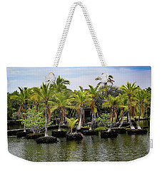 Weekender Tote Bag featuring the photograph Palm Tree Islands by Pamela Walton