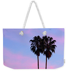 Palm Trees Silhouette At Sunset Weekender Tote Bag