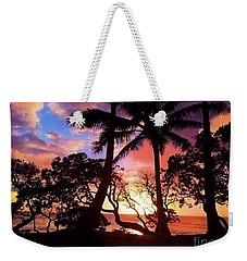 Palm Tree Silhouette Weekender Tote Bag by Kristine Merc