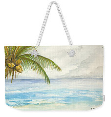 Weekender Tote Bag featuring the digital art Palm Tree Study by Darren Cannell