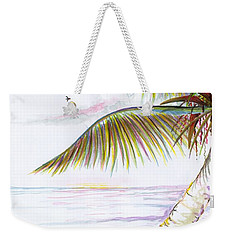 Weekender Tote Bag featuring the digital art Palm Tree Study Three by Darren Cannell