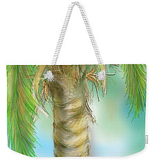 Weekender Tote Bag featuring the digital art Palm Tree Study Two by Darren Cannell