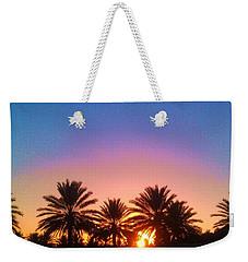Palm Tree Sunset Weekender Tote Bag by Deborah Lacoste