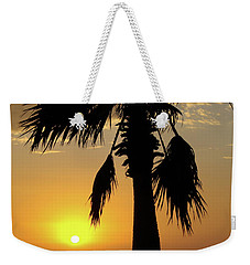 Palm Tree Sunset Weekender Tote Bag by Jim And Emily Bush