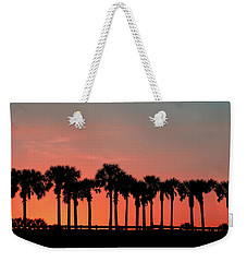 Weekender Tote Bag featuring the photograph Palm Tree Sunset by Joel Witmeyer
