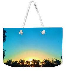 Blue Sunset New Orleans City Park Weekender Tote Bag by Deborah Lacoste