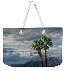 Weekender Tote Bag featuring the photograph Palm Trees By Borrego Springs In The Anza-borrego Desert State Park by Randall Nyhof