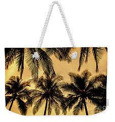 Palm Trees In Sunset Weekender Tote Bag by Iris Greenwell