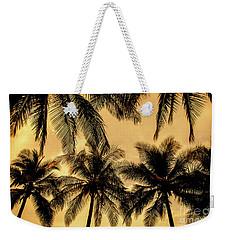 Palm Trees In Sunset Weekender Tote Bag