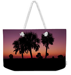 Weekender Tote Bag featuring the photograph Palm Trees Silhouette by Joel Witmeyer