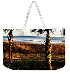 Weekender Tote Bag featuring the photograph Palm Triangle by Robert Knight