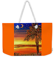 Palmetto Sunset  Weekender Tote Bag by Patricia L Davidson
