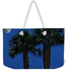 Palms And Moon At Morse Park Weekender Tote Bag