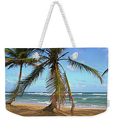Palms And Sand Weekender Tote Bag by Robert Och