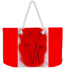 Weekender Tote Bag featuring the painting Palms And Sunset by Roberto Prusso