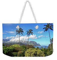 Palms At Hanalei Weekender Tote Bag by James Eddy