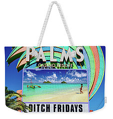 Palms Casino Sign In The Day Weekender Tote Bag by Aloha Art