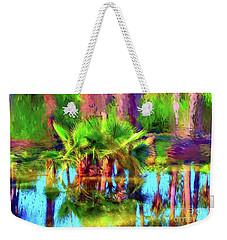 Palms In Estuary Weekender Tote Bag