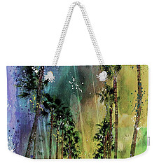 Weekender Tote Bag featuring the photograph Palms Of Venice Avenue by Barbara Chichester