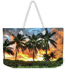 Palms On Fire Weekender Tote Bag