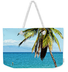 Weekender Tote Bag featuring the photograph Palms On Hawaiian Beach 12 by Micah May