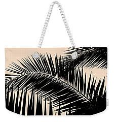 Palms On Pale Pink Weekender Tote Bag