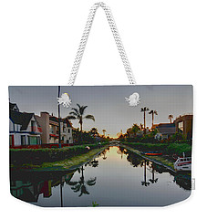 Palms Reflected Weekender Tote Bag