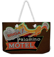 Weekender Tote Bag featuring the photograph Palomino Motel by Jeff Burgess