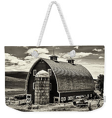 Palouse Icon In Sepia Weekender Tote Bag by Mark Kiver