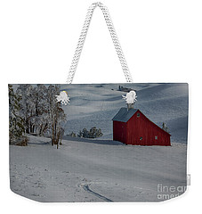 Palouse Saltbox Barn Winter Weekender Tote Bag