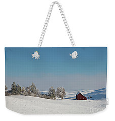 Palouse Saltbox Barn Winter  II Weekender Tote Bag