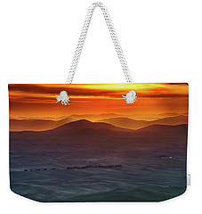 Palouse Sunrise  Weekender Tote Bag by Ronald Spencer
