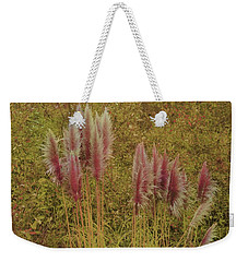Weekender Tote Bag featuring the photograph Pampas Grass by Athala Carole Bruckner