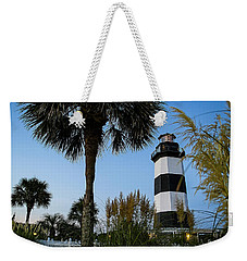 Pampas Grass, Palms And Lighthouse Weekender Tote Bag