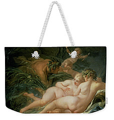 Pan And Syrinx Weekender Tote Bag by Francois Boucher