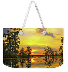 Panorama The Yellow Sunset Of Louisiana  Weekender Tote Bag