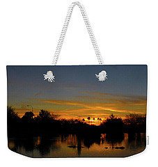 Pana Setting Sun Blues Weekender Tote Bag by Kimo Fernandez