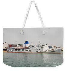 Panagia Tinou Ferry Sinking In Athens Weekender Tote Bag