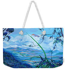 Weekender Tote Bag featuring the painting Panama. Anton Valley by Anna  Duyunova