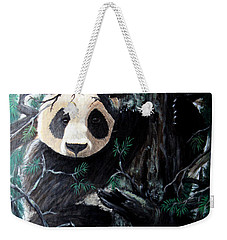 Panda In Tree Weekender Tote Bag