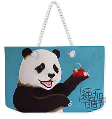 Panda Joy Blue Weekender Tote Bag