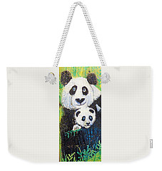 Panda Mother And Cub Weekender Tote Bag