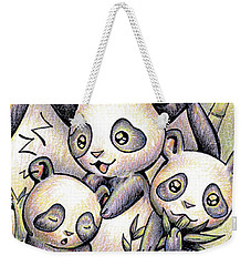 Endangered Animal Giant Panda Weekender Tote Bag