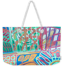 Panel Of Hand Painted Mondeo Weekender Tote Bag