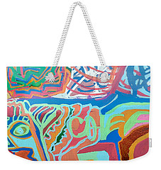 Panel On Hand Painted Ford Mondeo Weekender Tote Bag