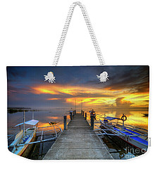 Weekender Tote Bag featuring the photograph Panglao Port Sunset 8.0 by Yhun Suarez