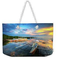 Weekender Tote Bag featuring the photograph Panglao Port Sunset 9.0 by Yhun Suarez