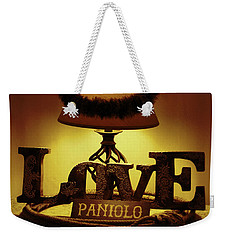 Weekender Tote Bag featuring the photograph Paniolo Love by Pamela Walton