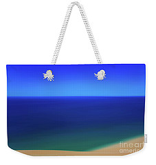 Weekender Tote Bag featuring the photograph Panning The Blue Horizon by Rachel Cohen
