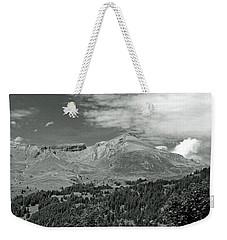Panorama Alps Switzerland In Black And White Weekender Tote Bag